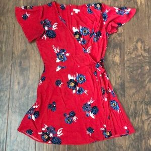Red Floral Xhilaration Dress Size Small
